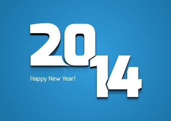 Neujahrsgrüße 2014 in Blau