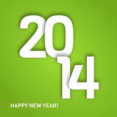 Neujahrsgrüße 2014 in Grün
