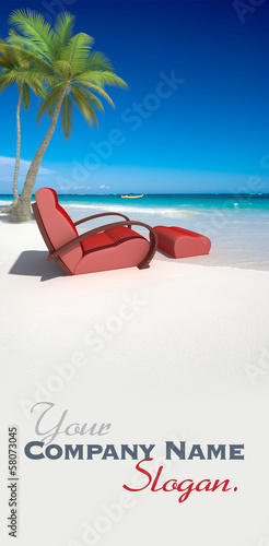 Comfortable sofa on the beach