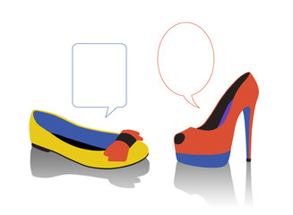 dialogue between women's shoes