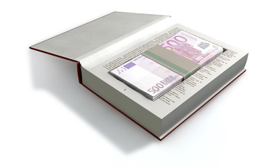Concealed Euros In A Book Front