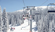 Chair-lift at ski resort