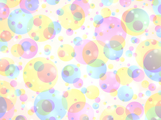 Abstract colorful bubble background with sparkles