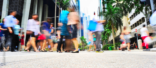 Foto op Canvas Singapore Singapore rush hour
