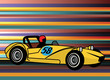 Retro style sport car, vector