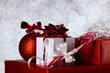 christmas still on bokeh background