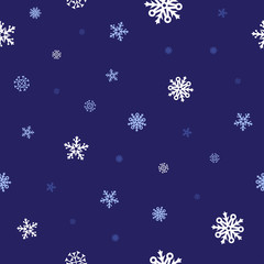 snow blue pattern
