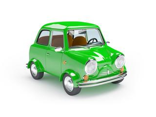 cute retro car green