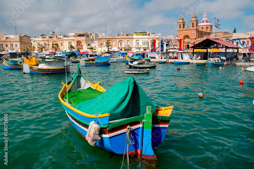 Boats on Malta island