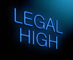 Legal high concept.