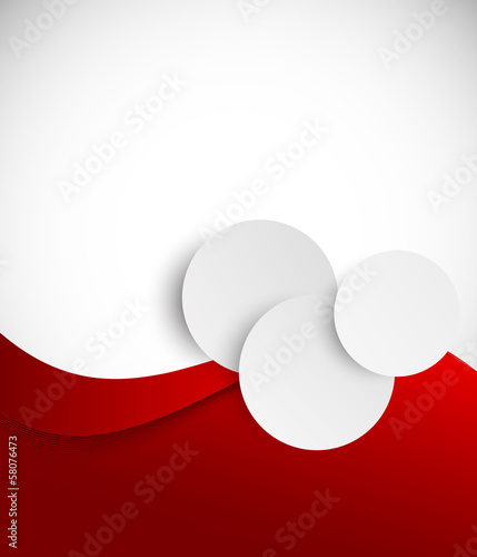 Abstract red brochure