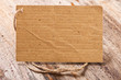 price tag label on wooden background