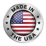 Made In The USA Silver Badge - 58077248