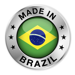 Made In Brazil Silver Badge