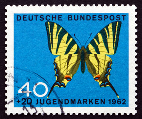 Postage stamp Germany 1962 Tiger Swallowtail, Butterfly