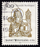 Postage stamp Germany 1994 St. Wolfgang, Bishop of Regensburg
