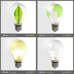 Realistic bulb.