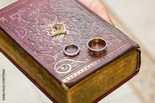 wedding rings on a gospel