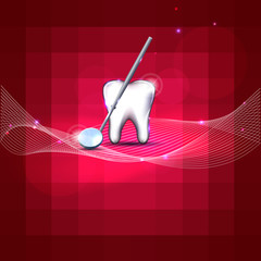 Modern dental design, bright color background