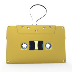 3d old audio cassette