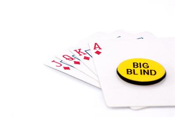 royal flush big blind