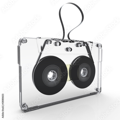 3d old audio cassette