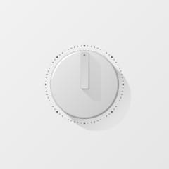 Plastic knob vector