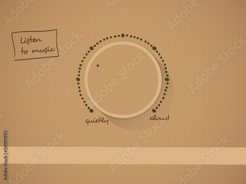 Carton knob with text vector