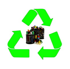 Recycling and renewable energy sources, aa different batteries