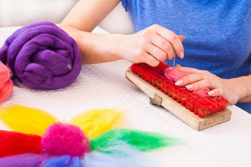 Felting activity