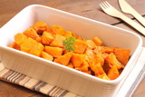 Baked spicy sweet potato