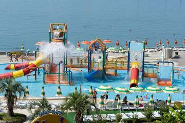 Аквапарк на берегу Чёрного моря в городе Сочи
