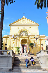 glimpse of the historical center of Sanremo, Italy