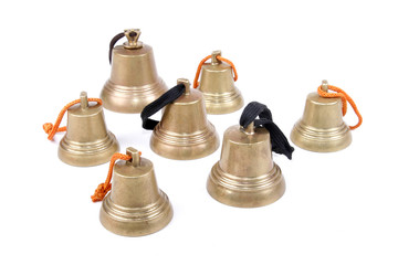 An antique handbells