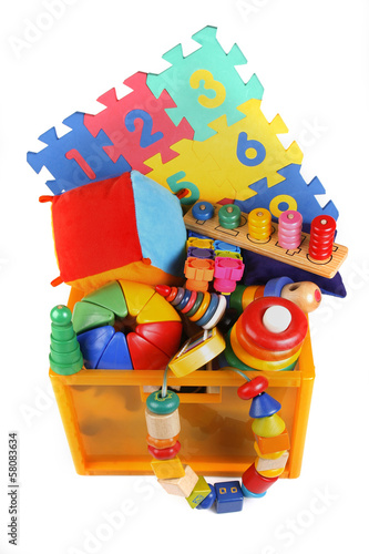 Box with very many toys