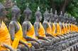 Buddhas in a row at Wat Yai Chai Mongkhon in Ayutthaya province