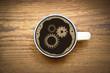 Zahnräder im Kaffee