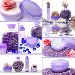Collage of cosmetic products