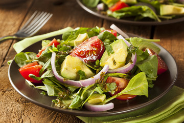 Organic Green Avacado and Tomato Salad