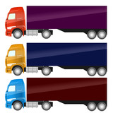 trucks, vector illustration