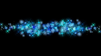 fantastic animation – glowing stars and snowflakes – loop HD
