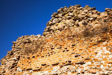 wall ruins. Krevo, Belarus