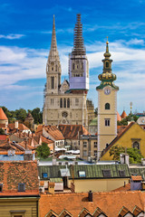 Church towers of Zagreb, Croatia