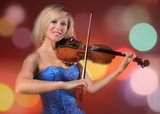woman the violinist plays violin