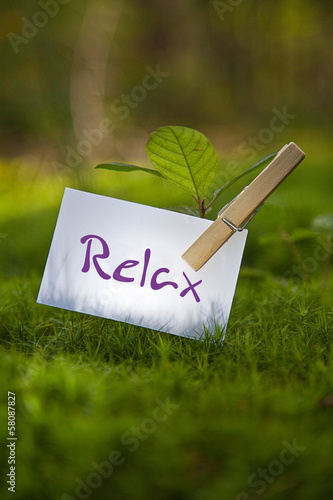 canvas print picture Relax