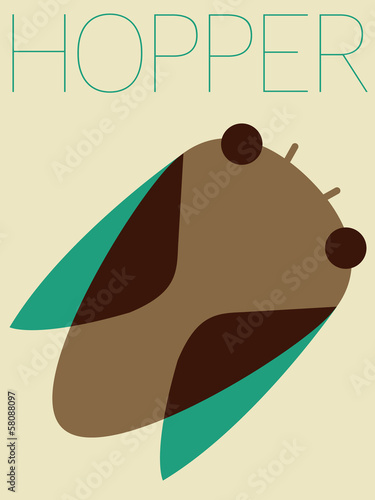 Vector Minimal Design - Hopper
