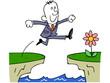ジャンプするビジネスマン