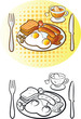 Vector illustration of english breakfast