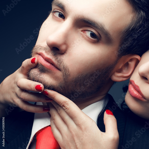 Seduction concept. Portrait of a sexy couple