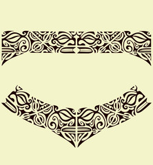 maori mask band tattoo